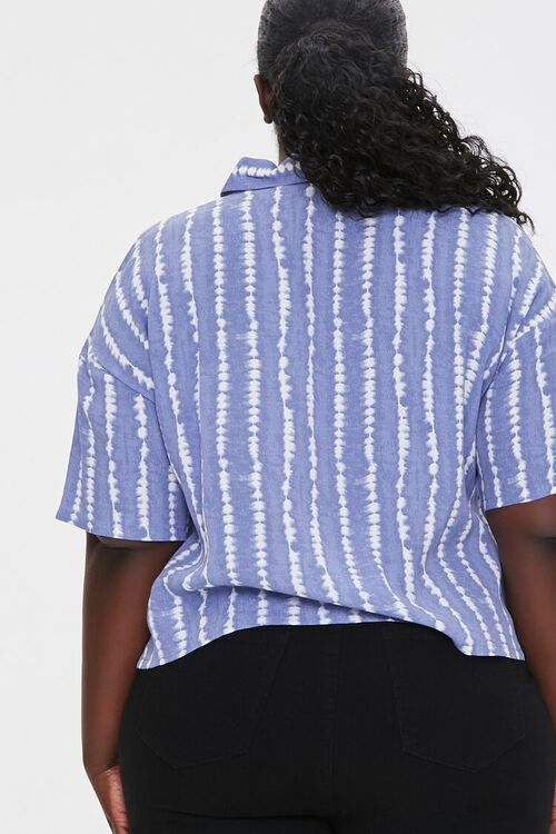 Plus Size Abstract Striped Shirt, image 3