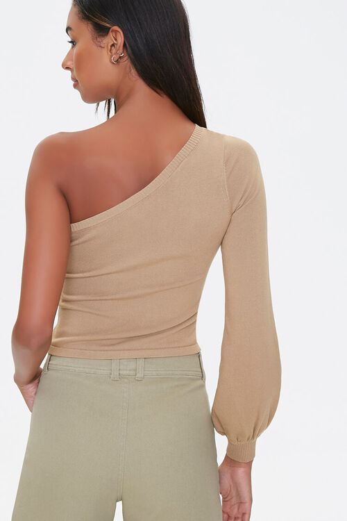 One-Shoulder Peasant Sweater, image 3