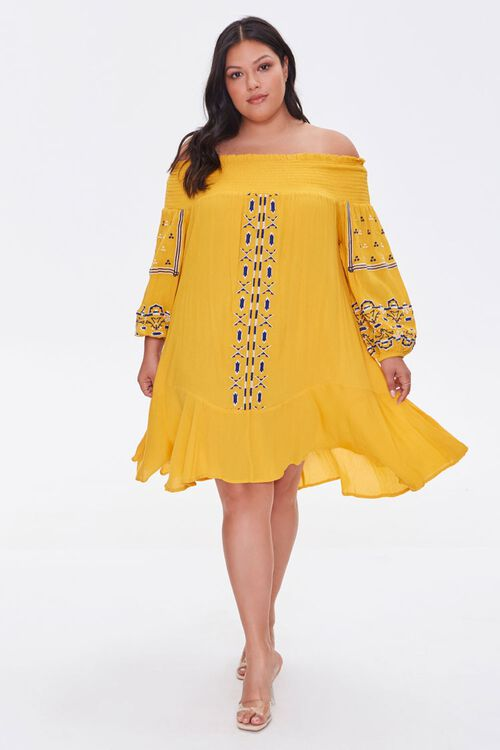 Plus Size Embroidered Dress, image 4