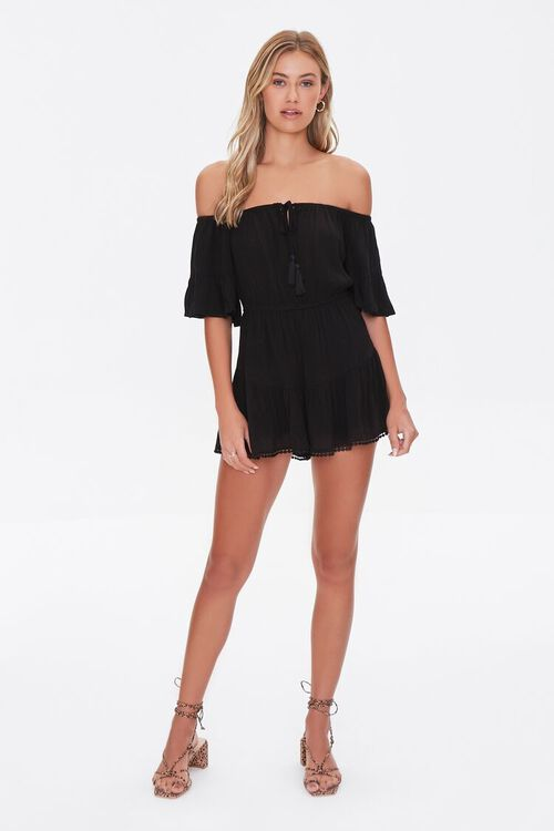 Off-the-Shoulder Ruffle Romper, image 4
