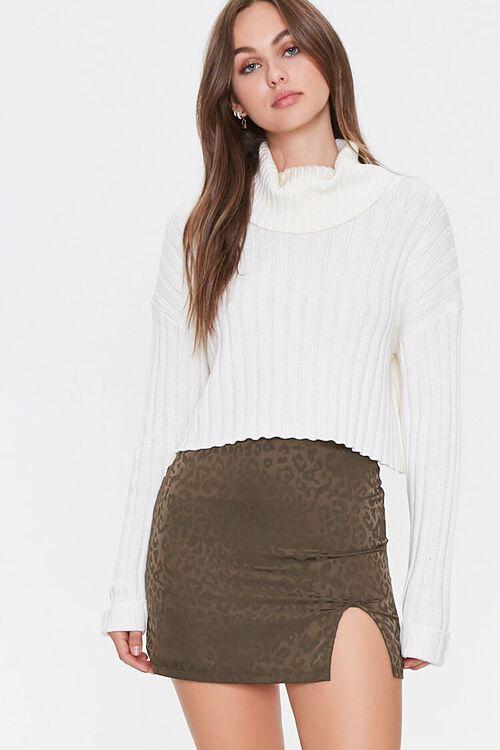 Leopard Print Mini Skirt, image 1