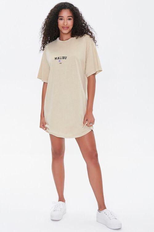 TAUPE/MULTI Malibu Graphic T-Shirt Dress, image 4