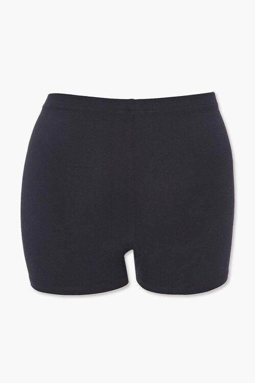 Plus Size Basic Knit Shorts, image 3