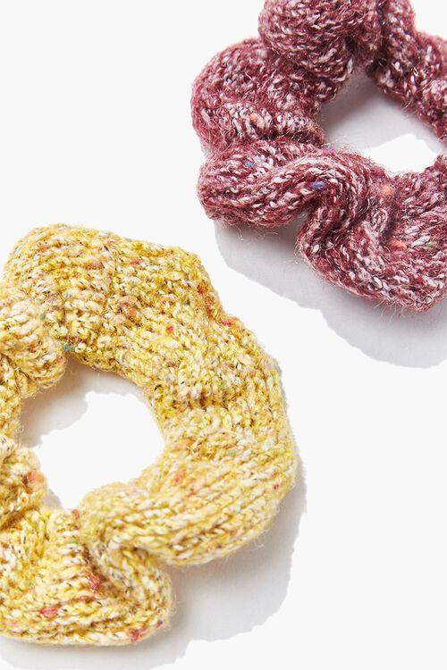 Marled Knit Scrunchie Set, image 2