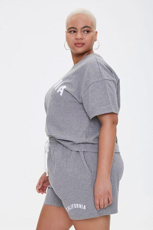 Plus Size California Tee & Shorts Set, image 2