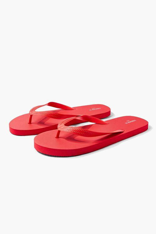 RED Men Flip-Flop Thong Sandals, image 1