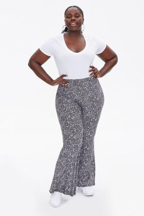 Plus Size Paisley Jordyn Pants, image 1