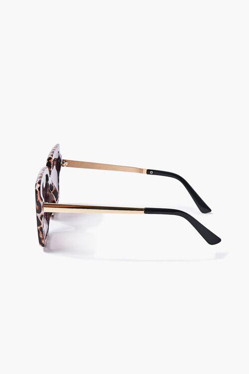 Leopard Print-Trim Square Sunglasses, image 3