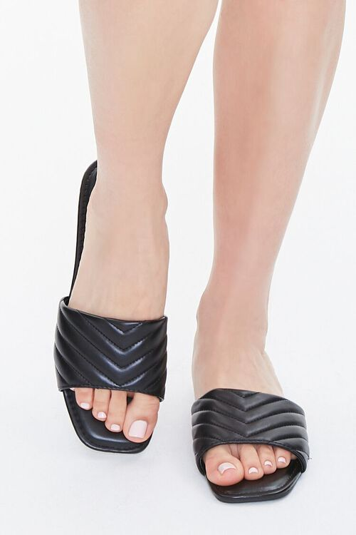 Metallic Quilted Sandals, image 4