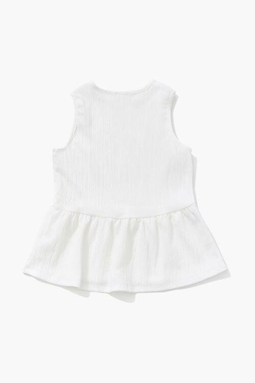 Girls Crinkled Flounce Top (Kids), image 2
