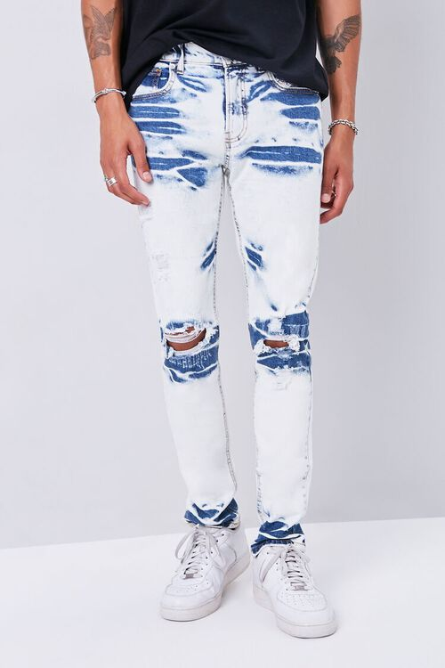 Bleached Slim-Fit Jeans, image 2