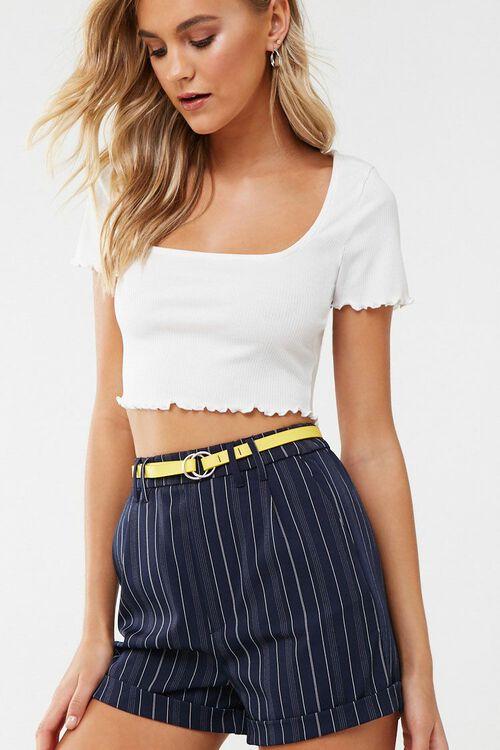 Striped Print Shorts, image 1