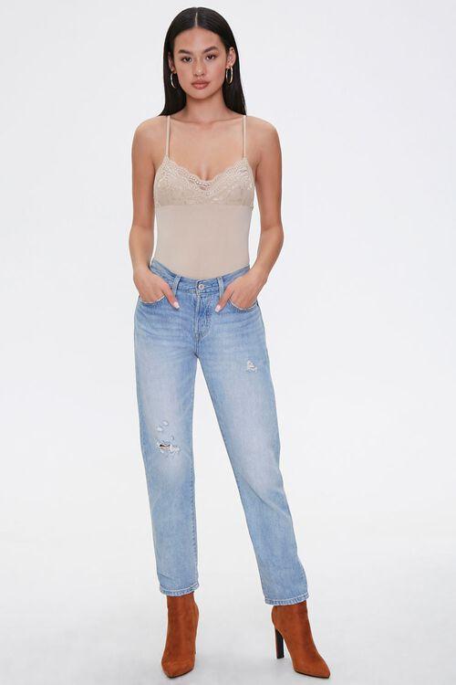 Lace-Trim Cami Bodysuit, image 4