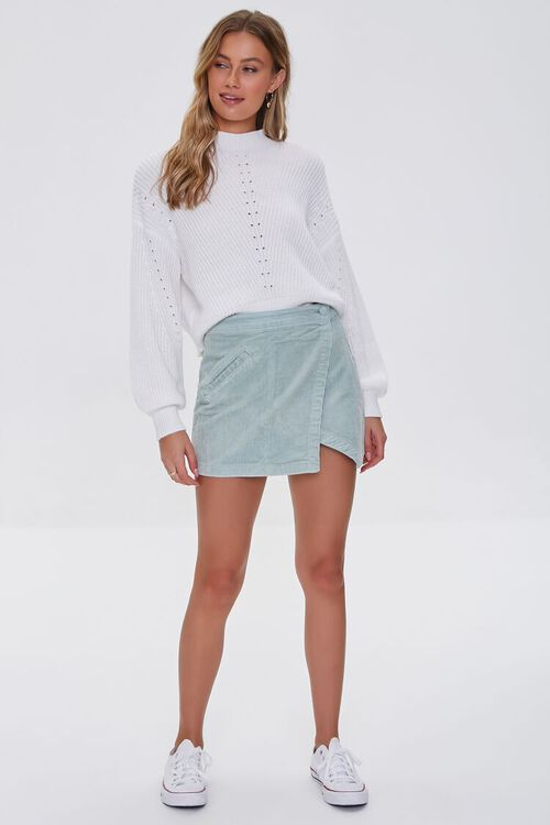 PISTACHIO Corduroy Mini Skirt, image 5