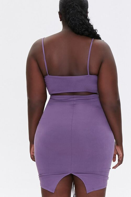 Plus Size Ruched Cami & Skirt Set, image 3