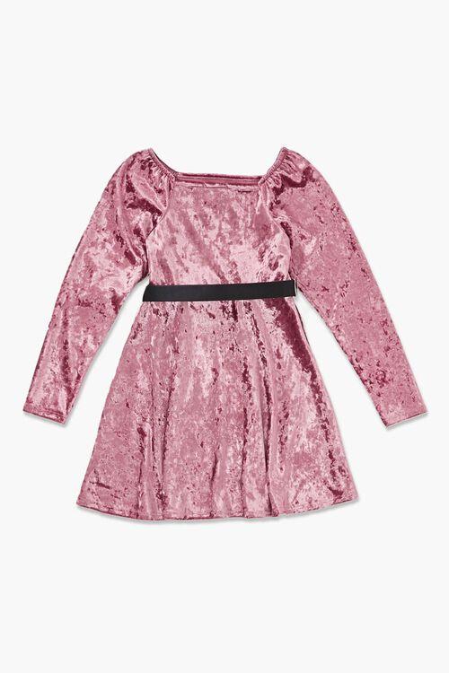 Girls Crushed Velvet Dress (Kids), image 2