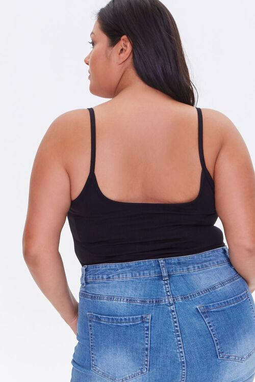 Plus Size Basic Cami Bodysuit, image 3