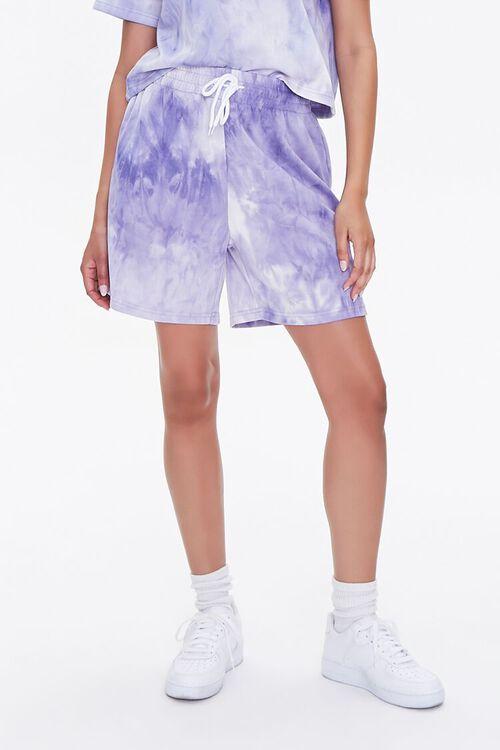 LAVENDER/CREAM Tie-Dye Tee & Shorts Set, image 5