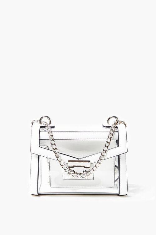 CLEAR Transparent Opaque-Trim Crossbody Bag, image 1