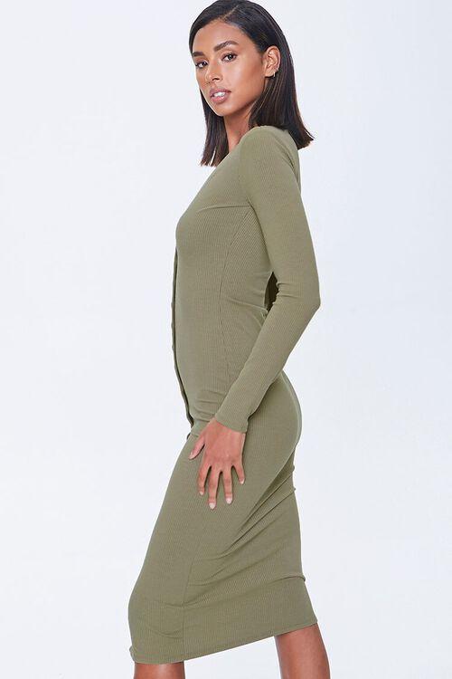 Button-Front Midi Dress, image 2