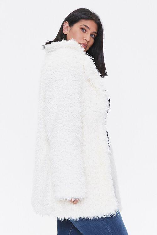 Plus Size Shaggy Faux Fur Coat, image 2