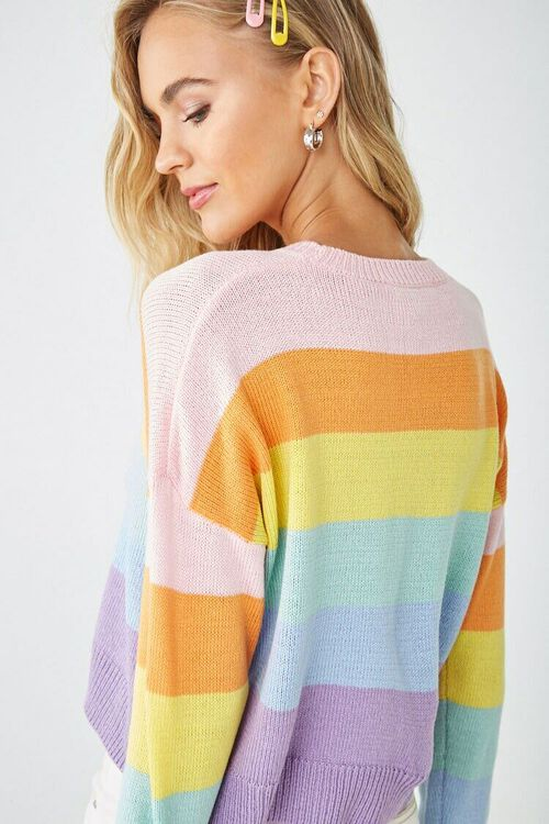 Rainbow Striped Sweater, image 3