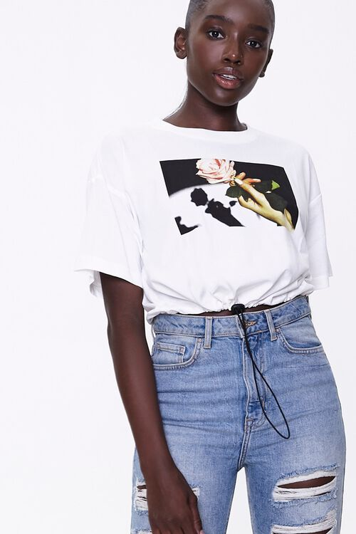 Rose Graphic Toggle Tee, image 1