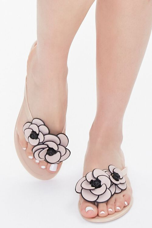 Floral Applique Thong Sandals, image 4