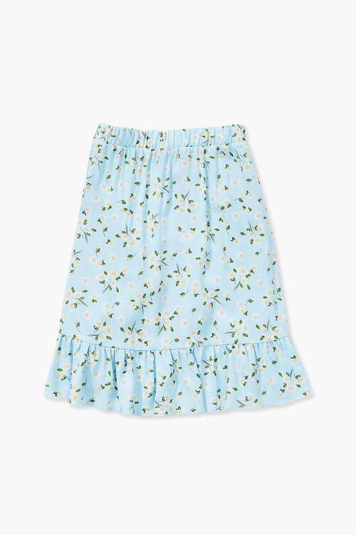 Girls Floral Print Tulip Skirt (Kids), image 2