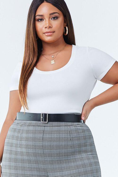 Plus Size Short Sleeve Bodysuit, image 1