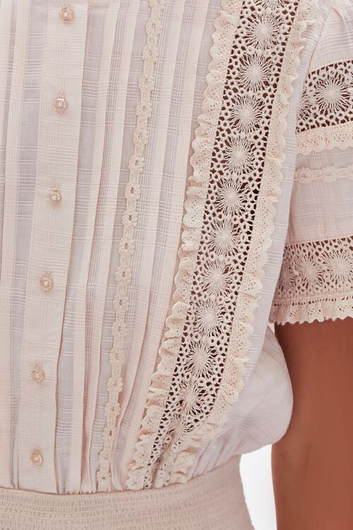 Lace-Trim Pintucked Top, image 5