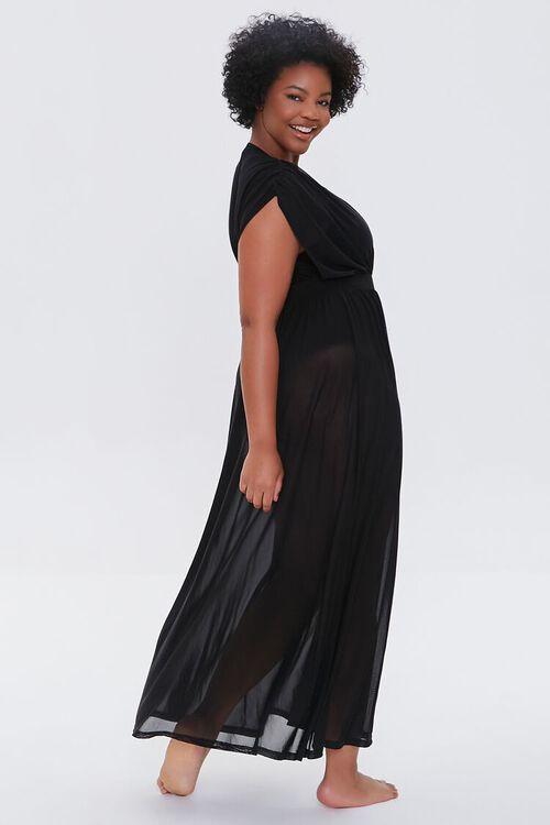 Plus Size Sheer Mesh Swim Cover-Up Dress, image 2