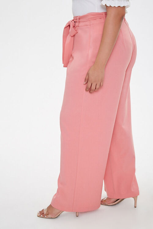 Plus Size Belted Wide-Leg Pants, image 3