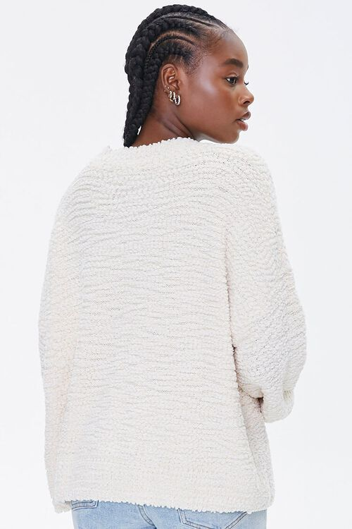 Popcorn Knit Drop-Sleeve Sweater, image 3