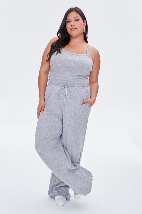 HEATHER GREY Plus Size Cropped Cami, image 4