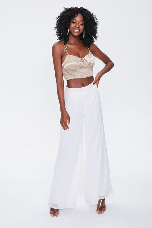 Smocked Self-Tie Cropped Cami, image 4