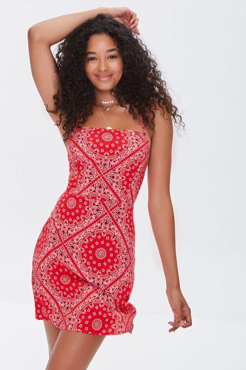 Ornate Print Mini Dress, image 1