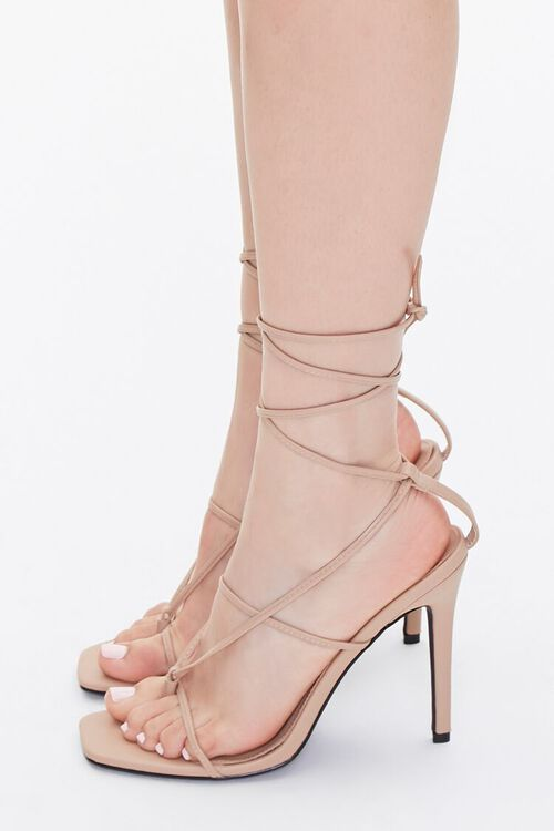 Strappy Toe-Thong Stiletto Heels, image 2