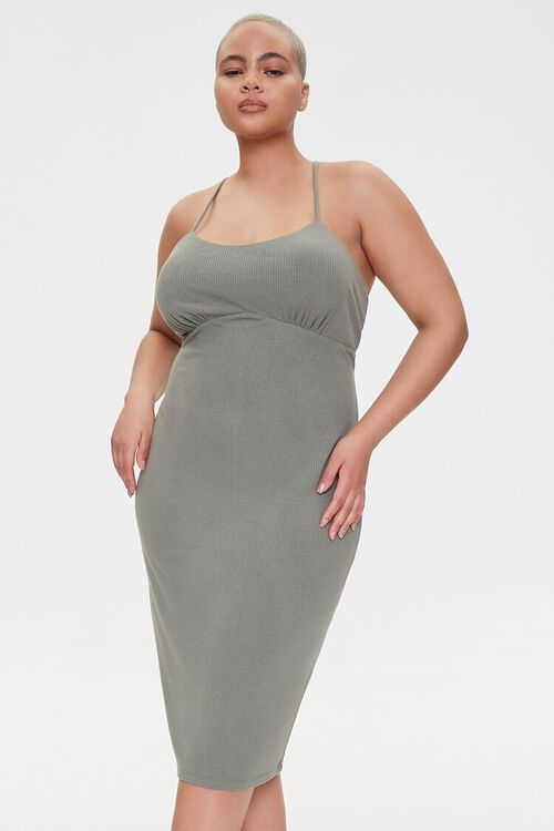 Plus Size Ribbed Bodycon Dress, image 1