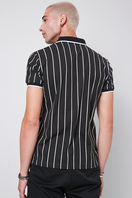 Vertical Striped Print Polo, image 3