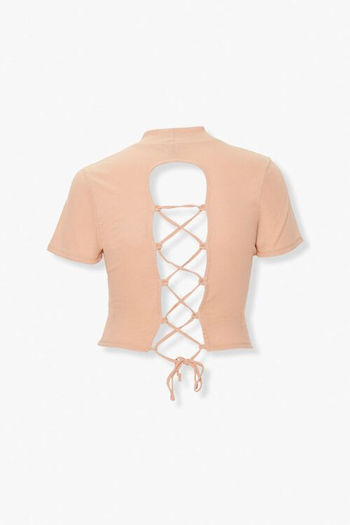 Plus Size Lace-Up Tee, image 2