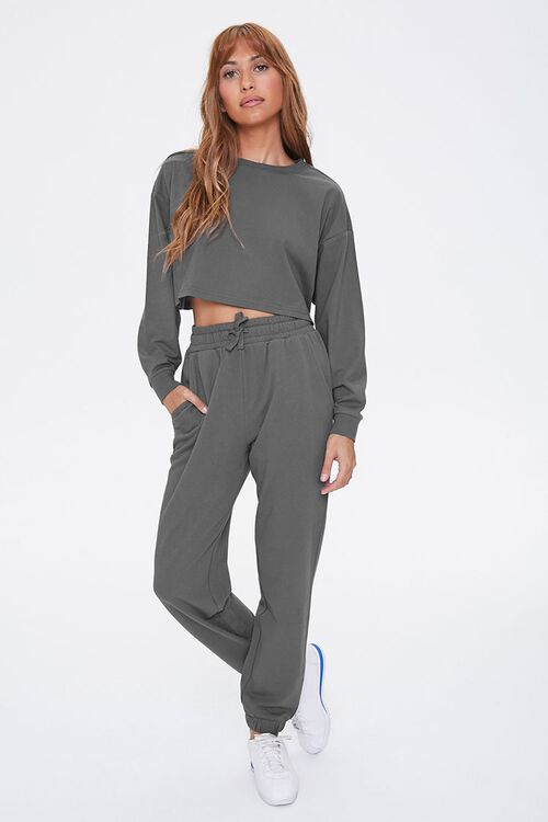 Drop-Sleeve Top & Joggers Set, image 1