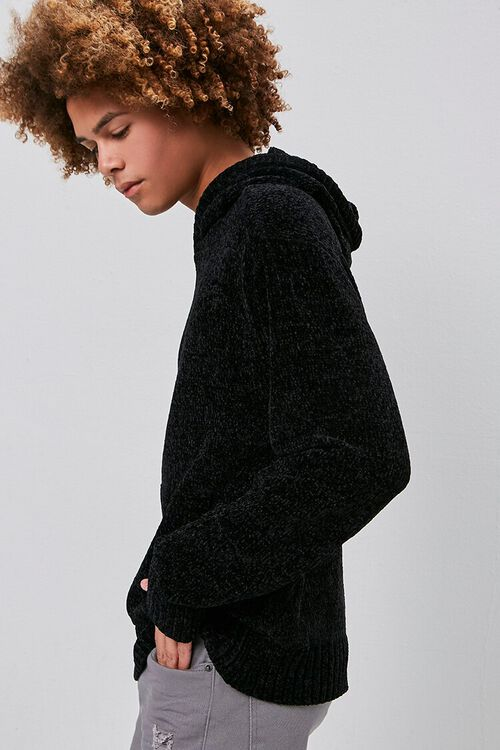 Chenille Sweater-Knit Hoodie, image 2