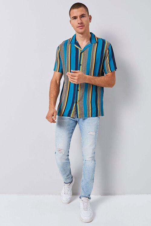 Vertical Striped Print Shirt, image 4