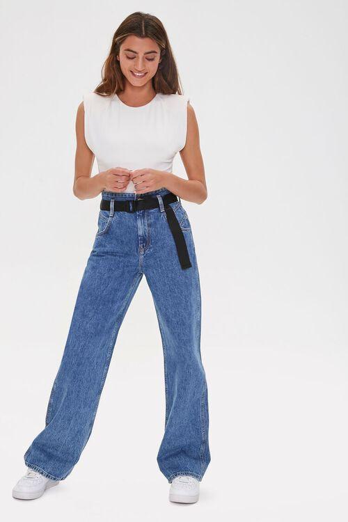 MEDIUM DENIM High-Rise Straight Jeans, image 5