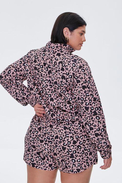 Plus Size Leopard Print Jacket, image 3