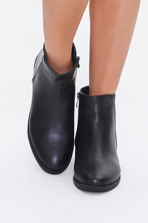 Faux Croc Leather Booties, image 4