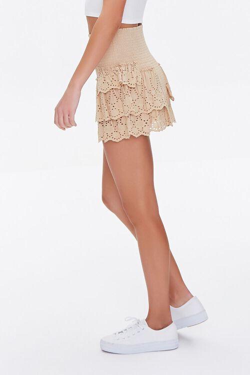 Smocked Flounce Mini Skirt, image 3