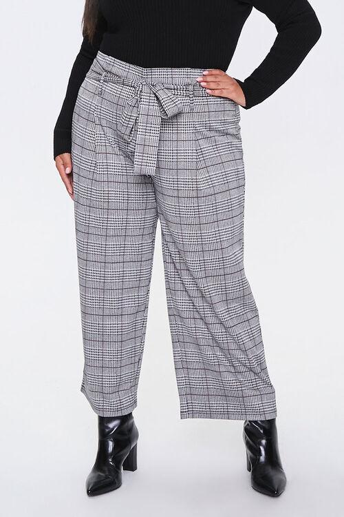 Plus Size Plaid Ankle Pants, image 4
