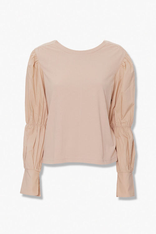Long Pleated-Sleeve Top, image 1